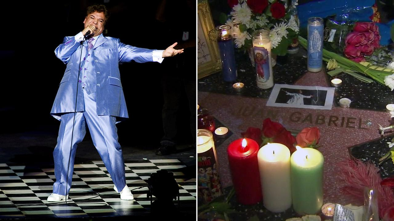 Fans mourned the death of Latin music singer Juan Gabriel, who died at the age of 66 at his Santa Monica home on Sunday, Aug. 29, 2016.