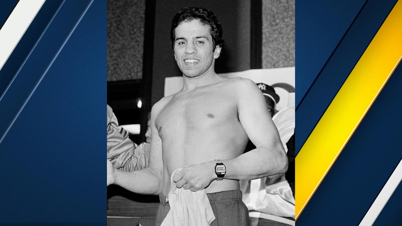 Boxer Bobby Chacon is seen during a weigh-in in Reno, Nev. on Jan 14, 1984.