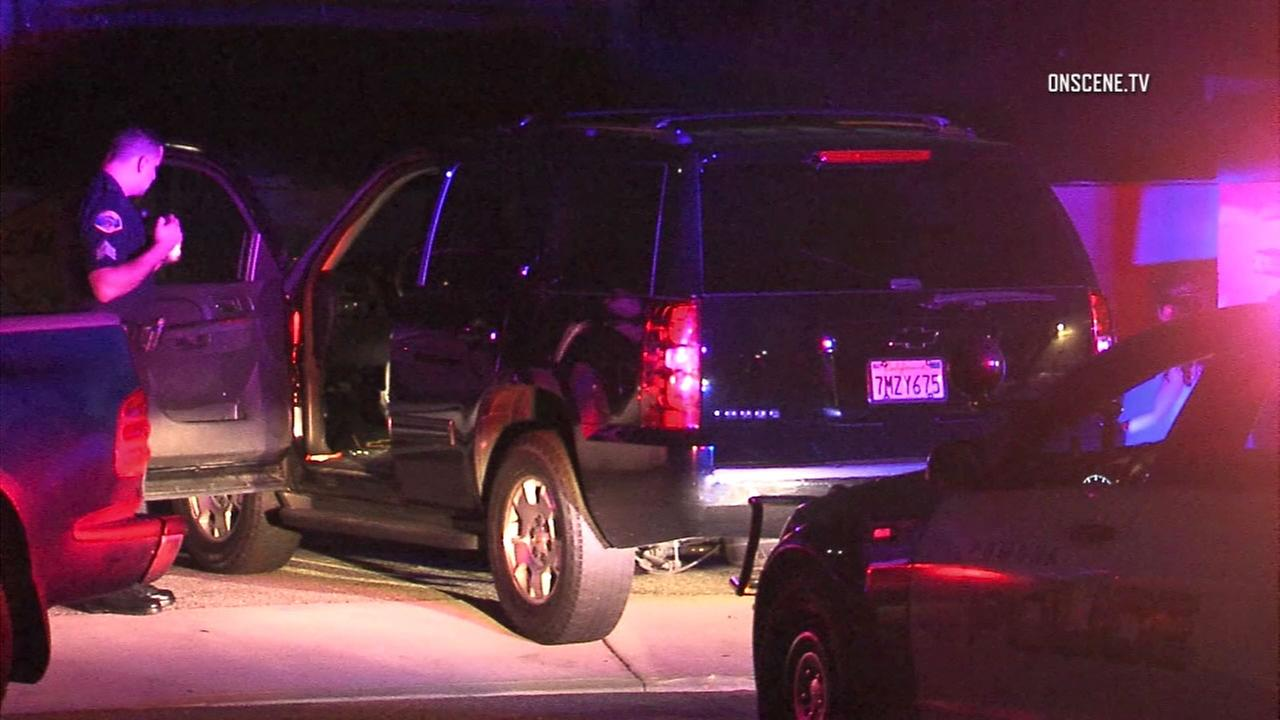 Police said a family was shot at during a road-rage attack in Pomona on Sunday, Sept. 11, 2016.