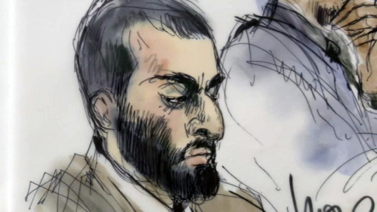 Nader Elhuzayel, pictured in a court sketch, was sentenced to 30 years in prison for conspiring to aid ISIS.