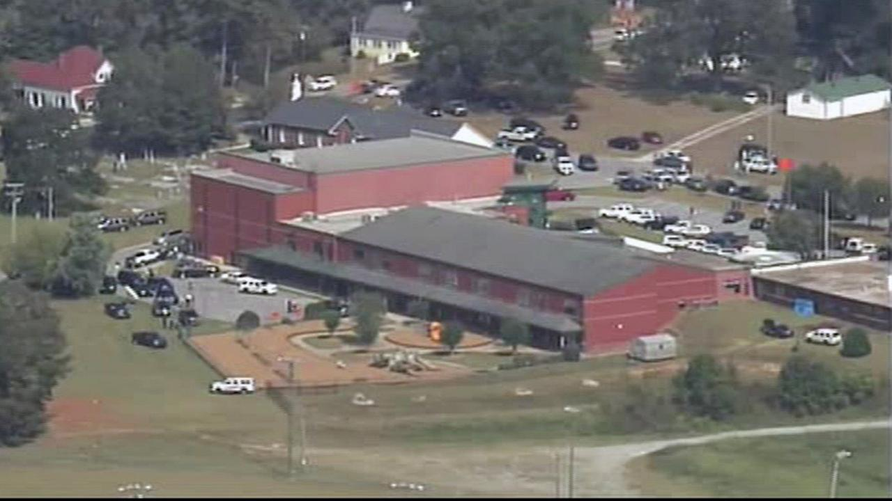 Authorities said multiple people were shot at an elementary school in Townville, South Carolina, on Wednesday, Sept. 28, 2016.