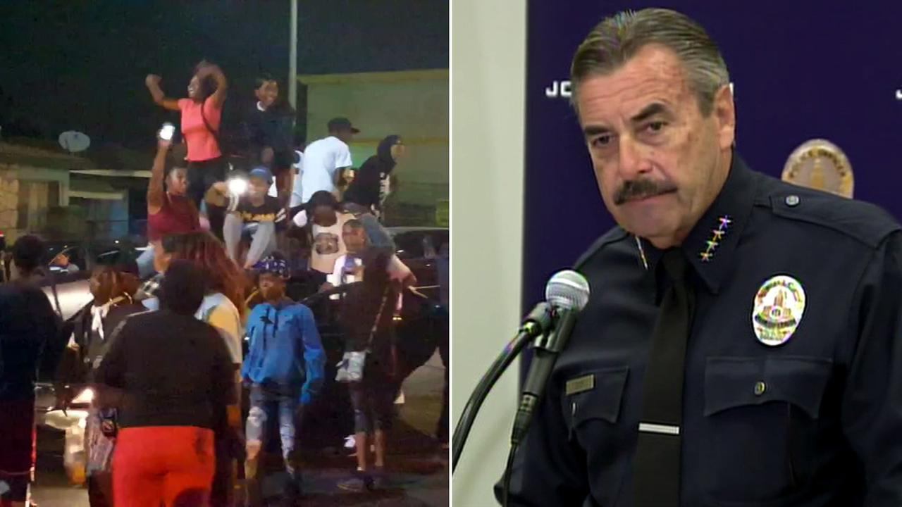 Following the protests of two fatal officer-involved shootings, LAPD Chief Charlie Beck addressed the media on Monday, Oct. 3, 2016.