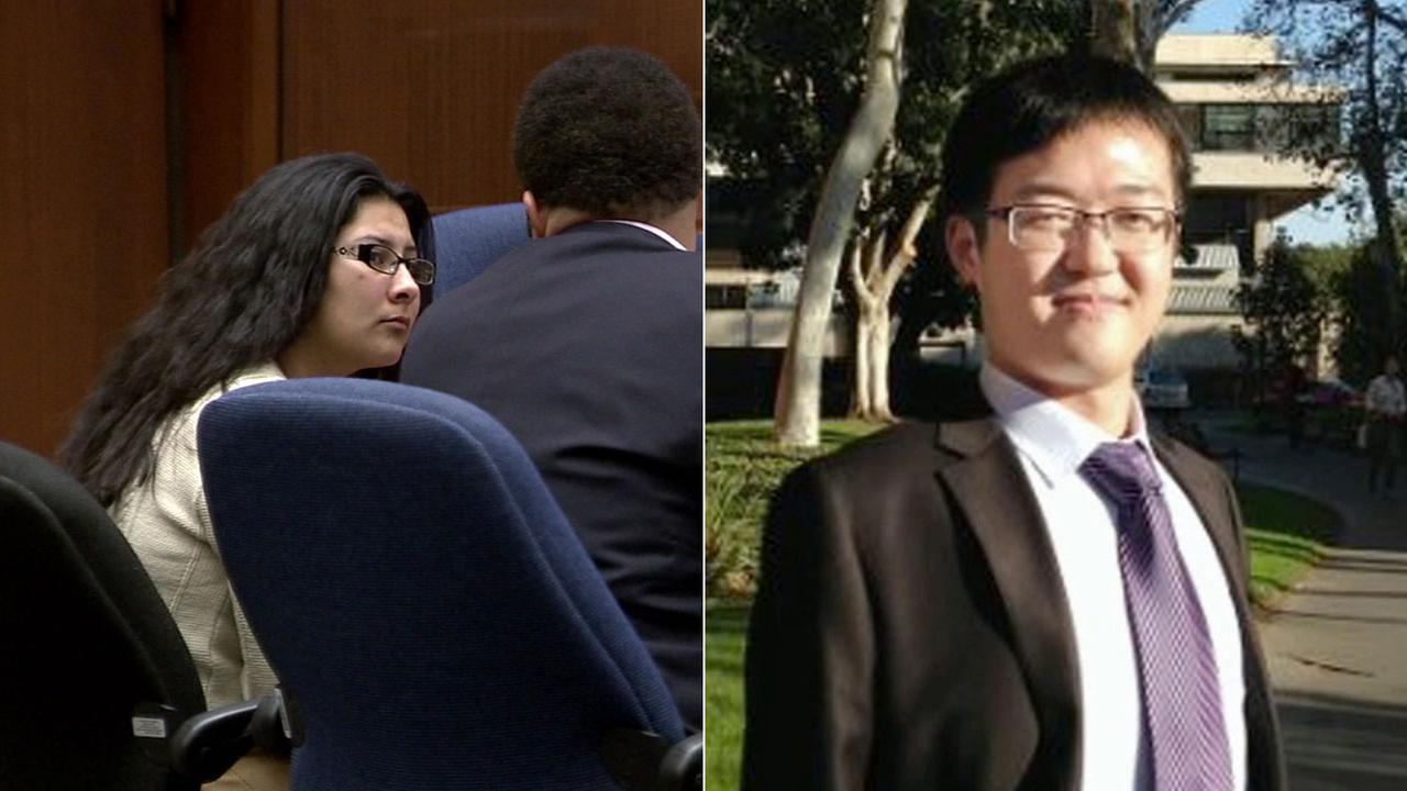 Alejandra Guerrero, left, and Xinran Ji, right, are seen in undated file photos. Ji, a USC graduate student from China, was beaten to death in 2014.