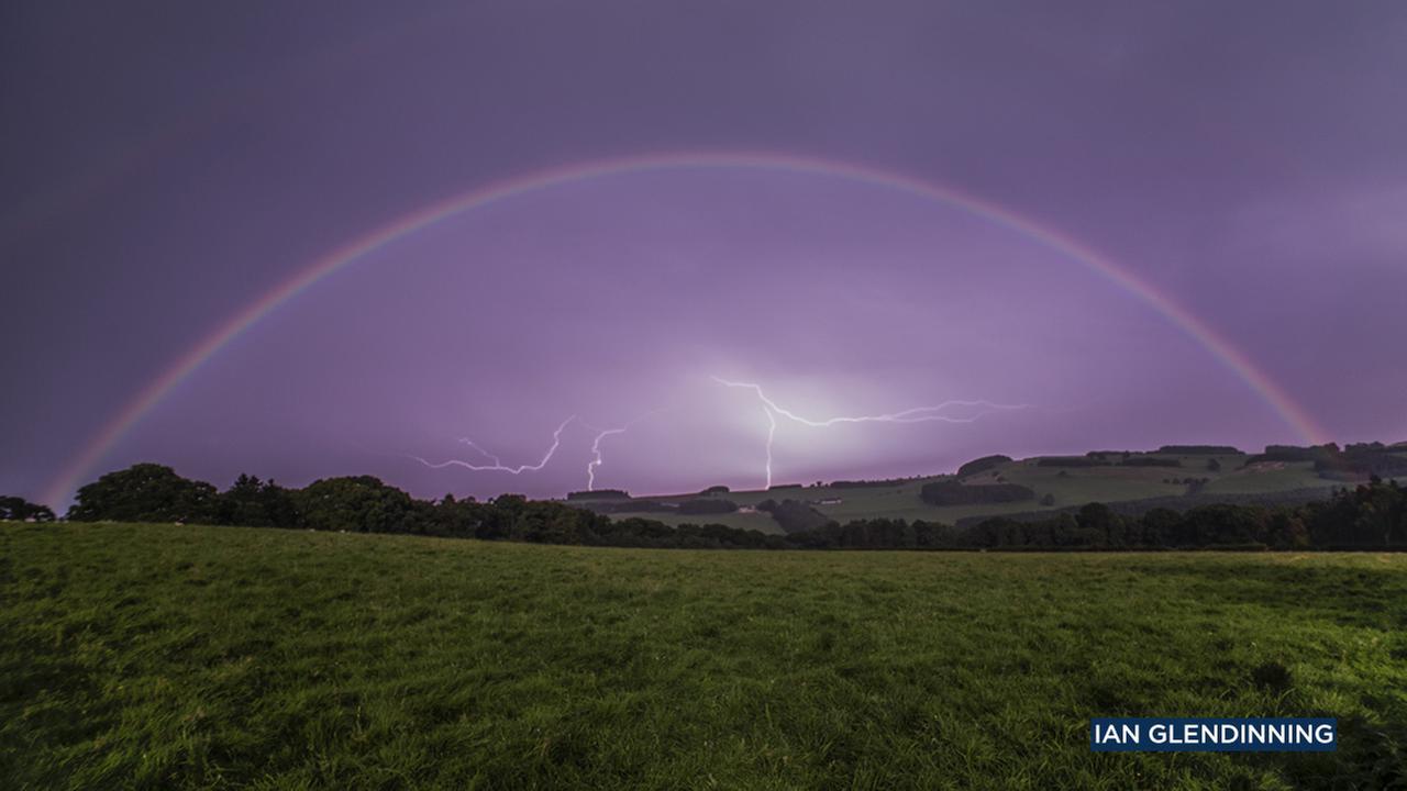 Ian Glendinning captured a lunar rainbow, or moonbow, over Northumberland, United Kingdom, on Sept. 16, 2016.