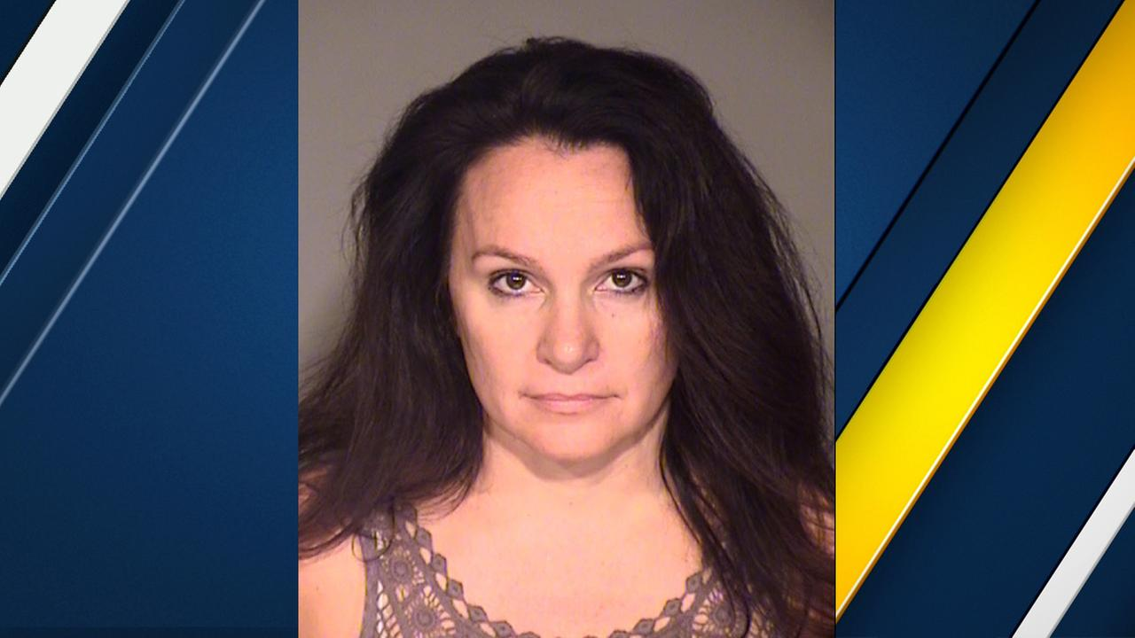 Christina Politis is seen in a booking photo.