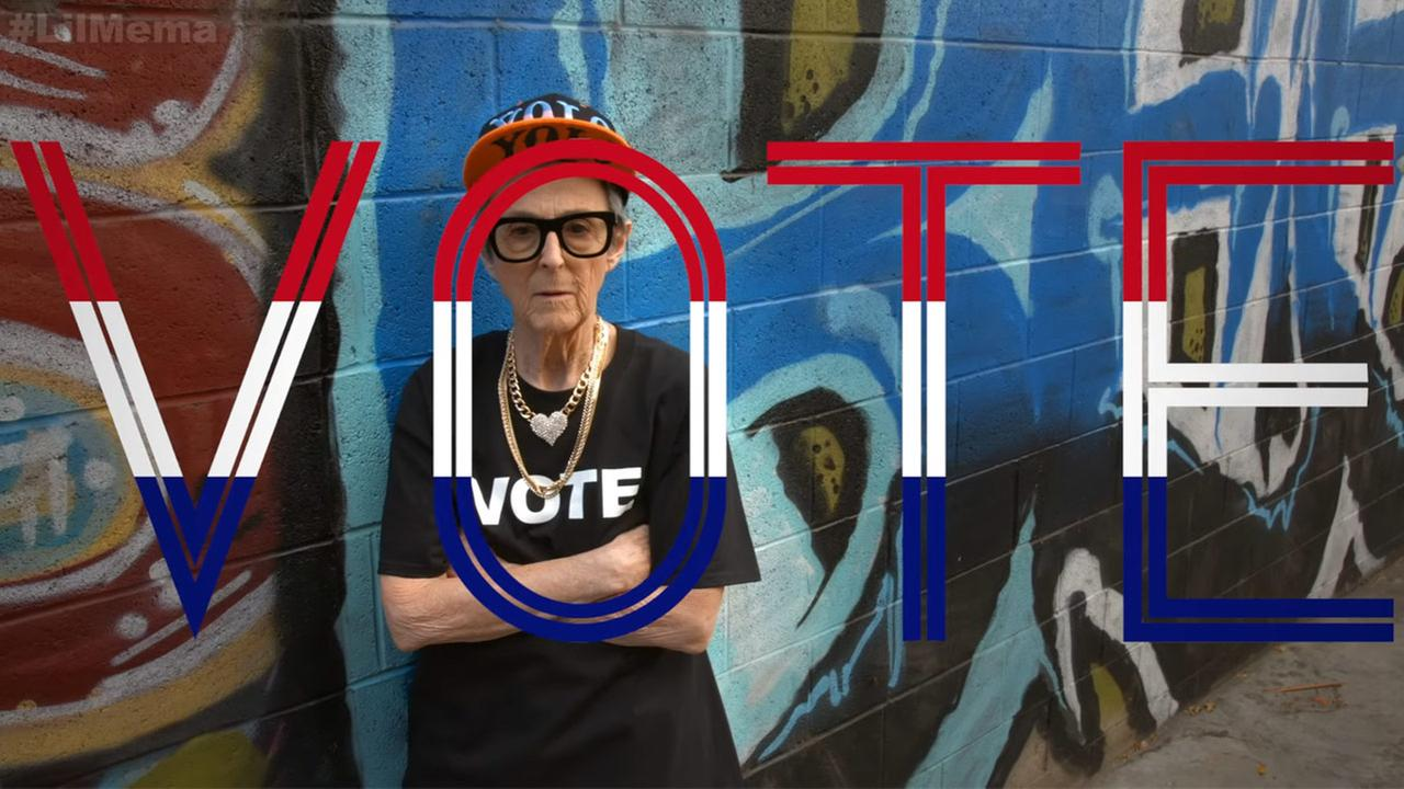Lil Mema, a Southern California grandmother, is rapping to help encourage people to vote on Nov. 8.