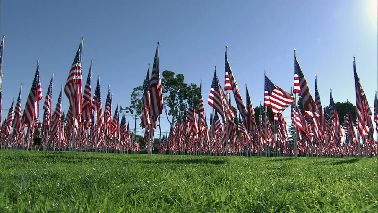 The Field of Valor honors veterans in Covina.