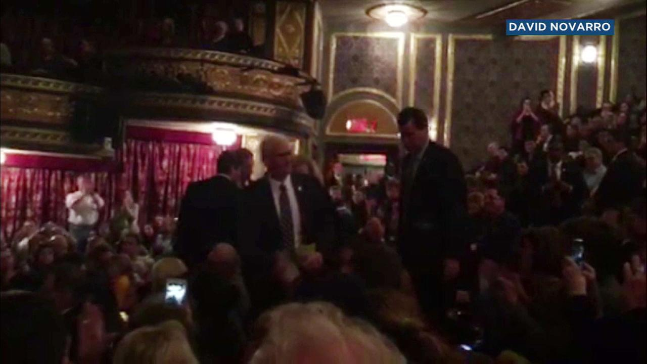 Vice President-elect Mike Pence attended a performance of Hamilton on Broadway.