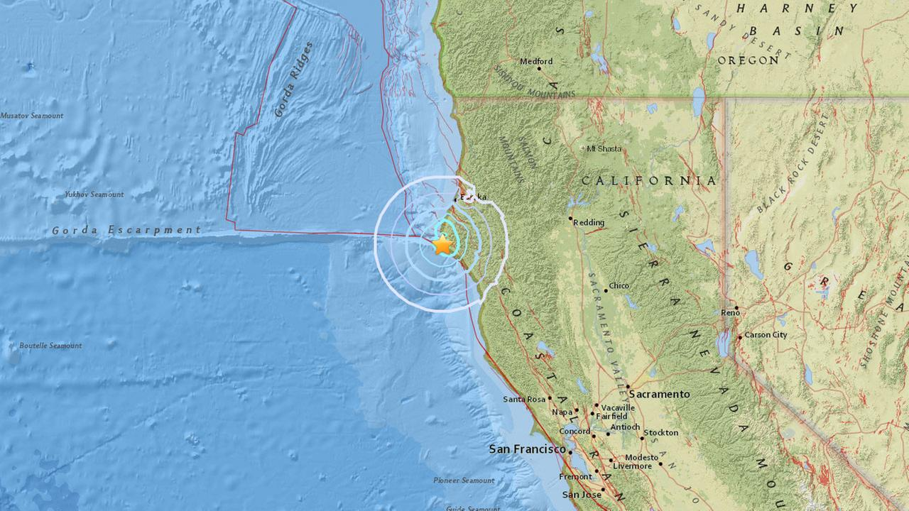 A preliminary-magnitude 4.2 earthquake struck off the coast of Northern California on Monday, Dec. 5, 2016.