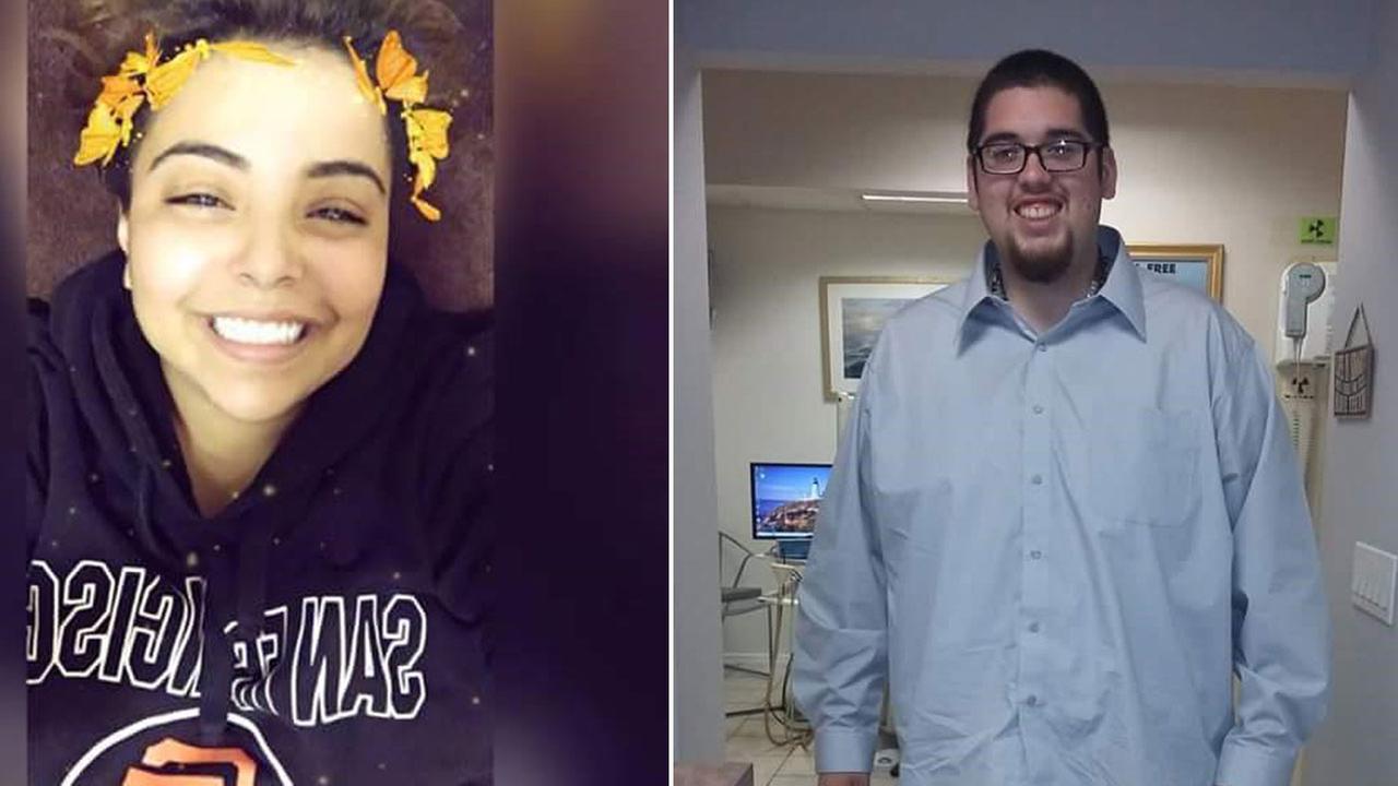 Angela Hernandez, 24, is shown in an undated photo alongside a photo of Heriberto Gonzalez, 20.