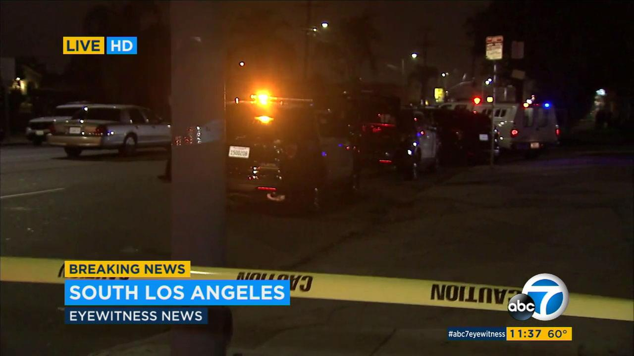 One person was wounded in an officer-involved shooting in South Los Angeles Sunday, Dec. 11, 2016.