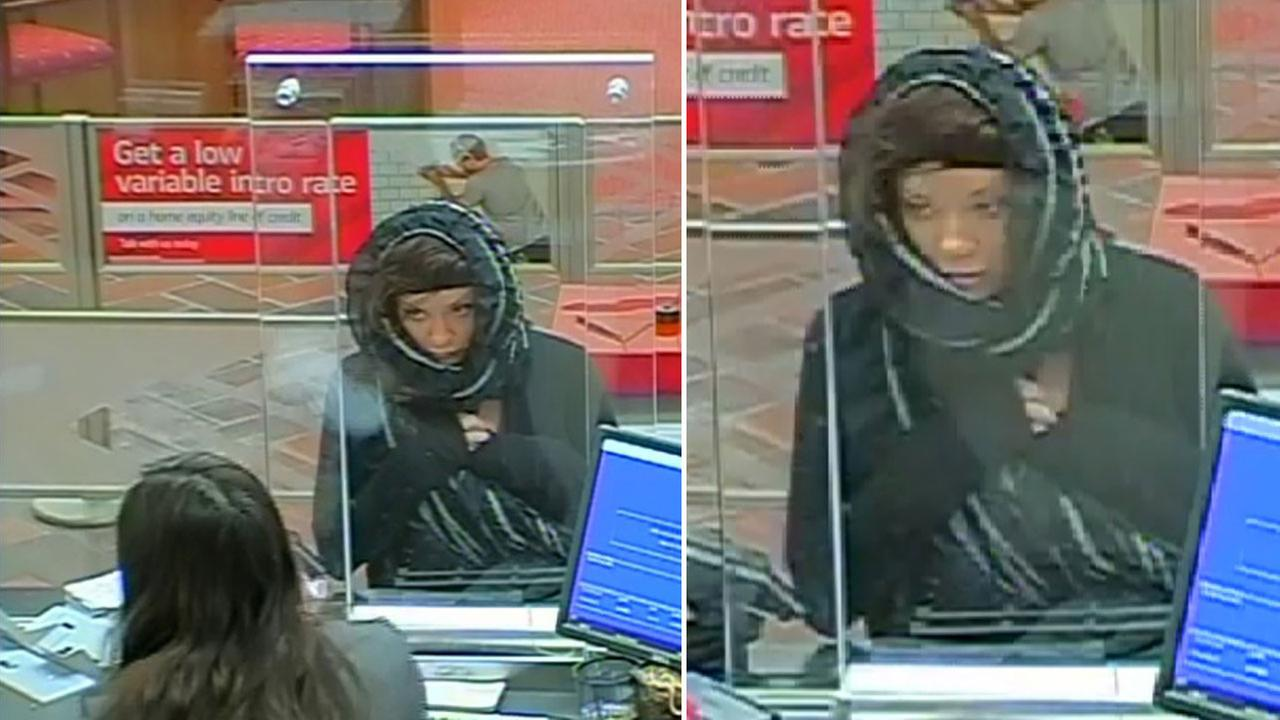 Surveillance video from Monday, Dec. 5, 2016, shows an attempted bank robbery suspect in a Newbury Park Bank of America.