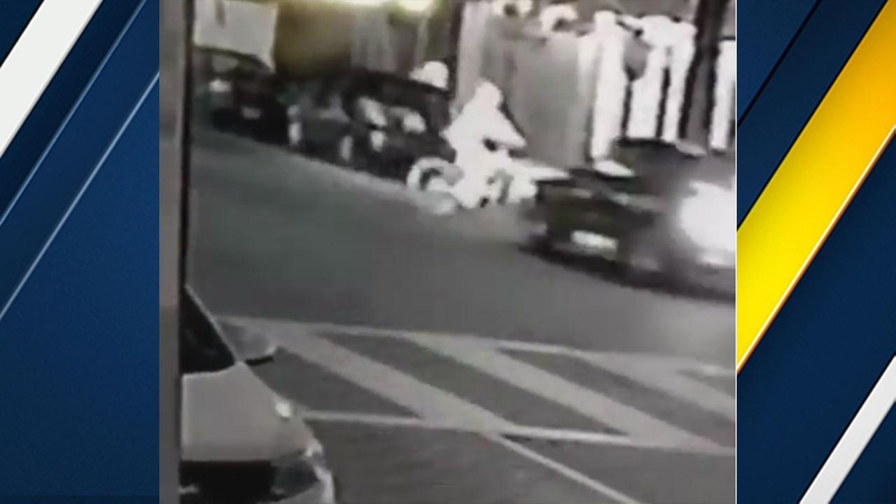 Surveillance video shows a bicyclist struck and killed by a hit-and-run driver in South Los Angeles on Monday, Dec. 19, 2016.