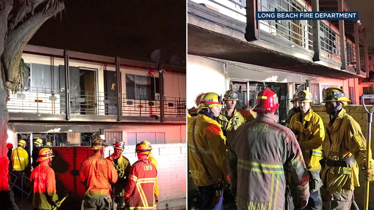 One person was killed during a fire in the 5500 block of Dairy Avenue in Long Beach on Sunday, Jan. 1, 2017, according to the Long Beach Fire Department.