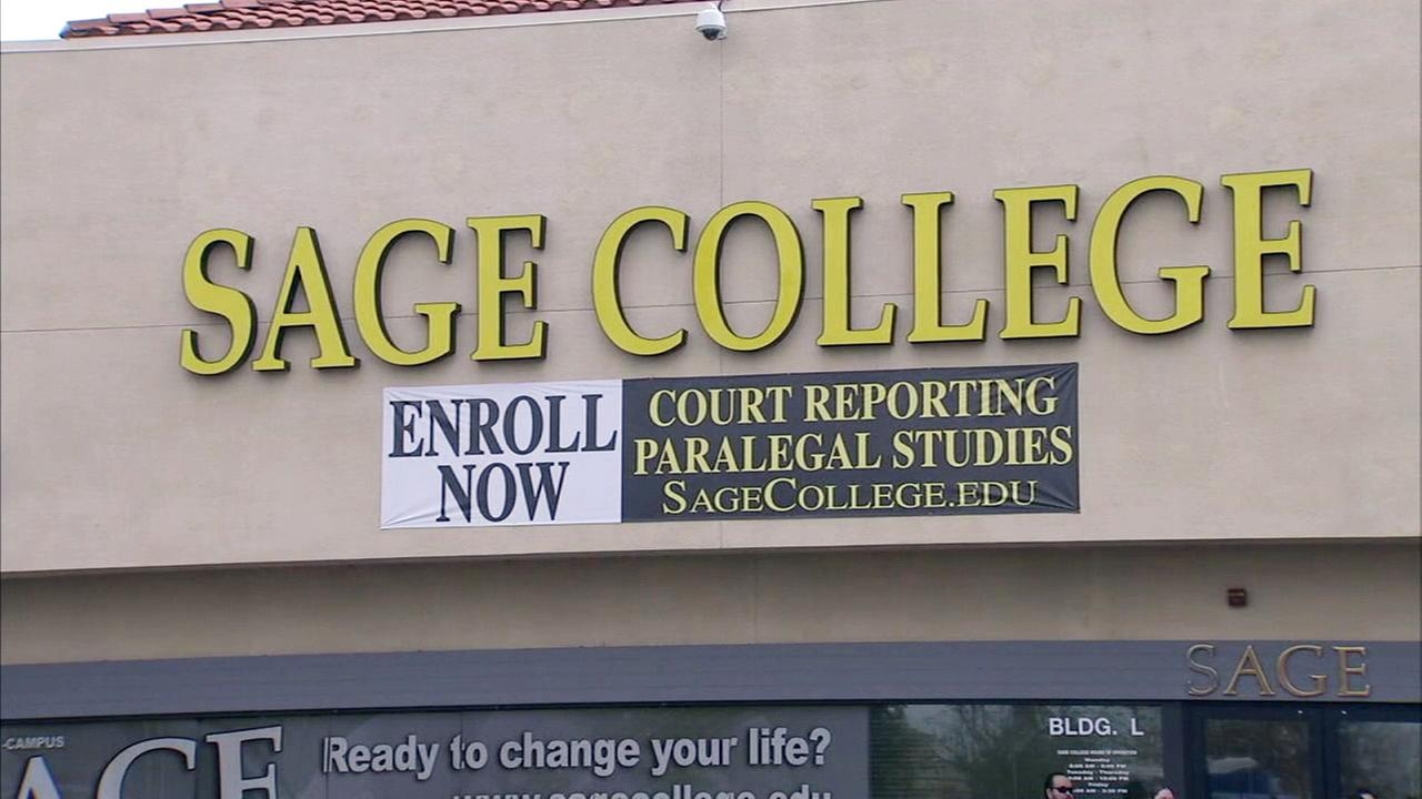 Students at Sage College in Moreno Valley were shocked to learn the school had been closed over winter break.