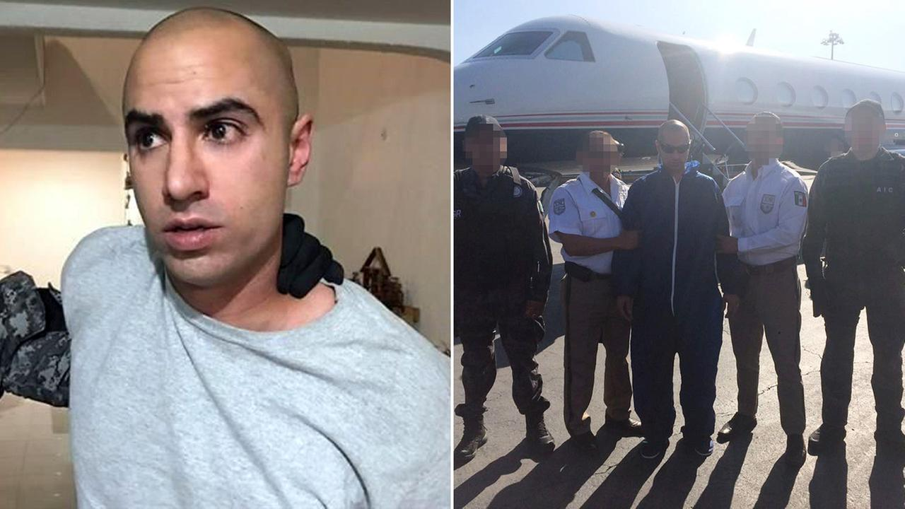 Photos from the Mexican government show 31-year-old Zia Zafar, the alleged gunman in the attack of State Department official Christoper Ashcraft, being taken into custody.