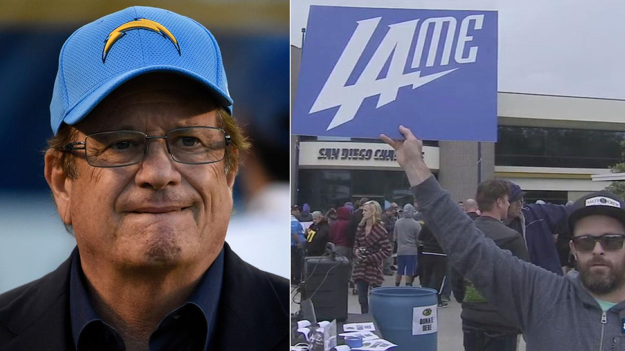 Chargers owner Dean Spanos announced the teams move to Los Angeles but many fans in San Diego reacted with disappointment.