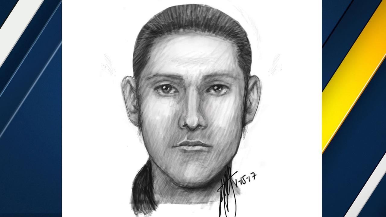 A sketch of one of two men wanted in an attempted kidnapping in Riverside on Sunday, Jan. 15, 2017.