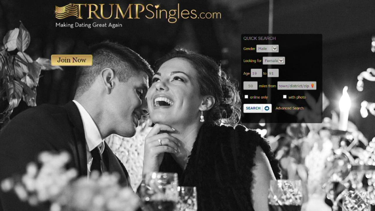 The homepage of TrumpSingles.com, a dating website for Donald Trump fans.