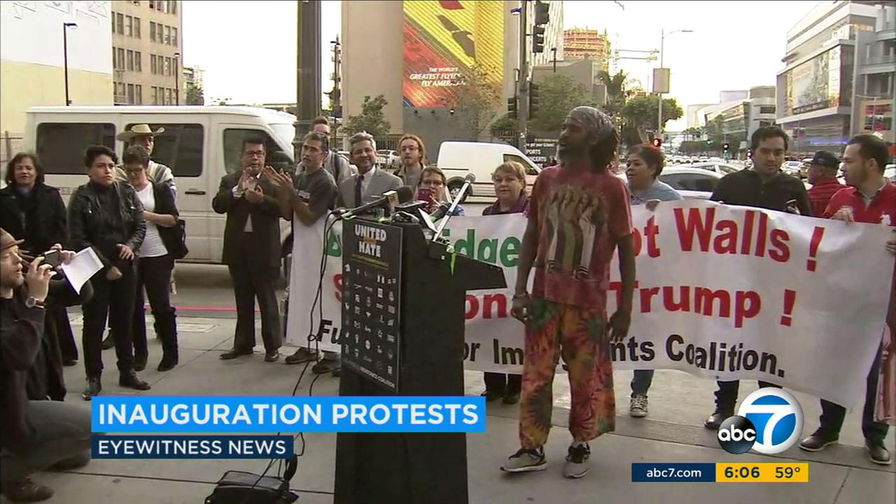 Thousands of people are expected to take part in Southern California protests against the new administration of President-elect Donald Trump on inauguration day, Friday.