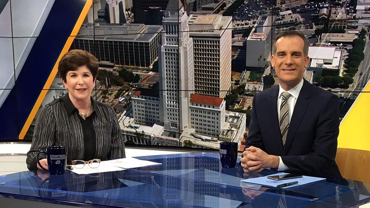 Mayor Eric Garcetti joined Adrienne Alpert for the latest edition of Ask the Mayor on Eyewitness Newsmakers.