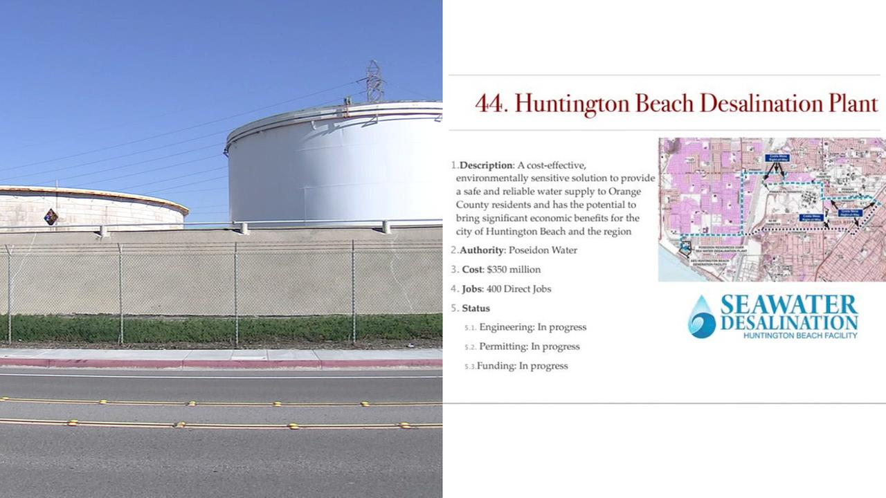 A proposed desalination plant in Huntington Beach appeared on an alleged leaked list of President Donald Trump infrastructure projects.