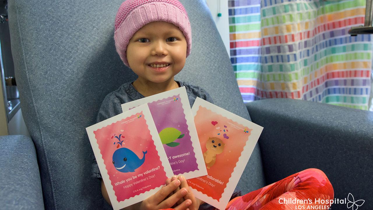 You can help put a smile on a childs face by sending a Valentines Day card to a patient at Childrens Hospital Los Angeles.