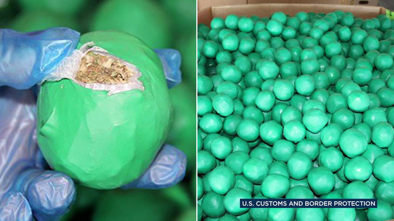 Border patrol officers seized nearly 4,000 pounds of marijuana hidden in limes in Pharr, Texas, on Monday, Jan. 30, 2017.