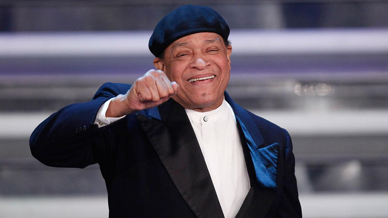 Seven-time Grammy Award winner, US vocalist Al Jarreau performs during the 62nd edition of the Sanremo Song Festival, in Sanremo, Italy, Thursday, Feb. 16, 2012.