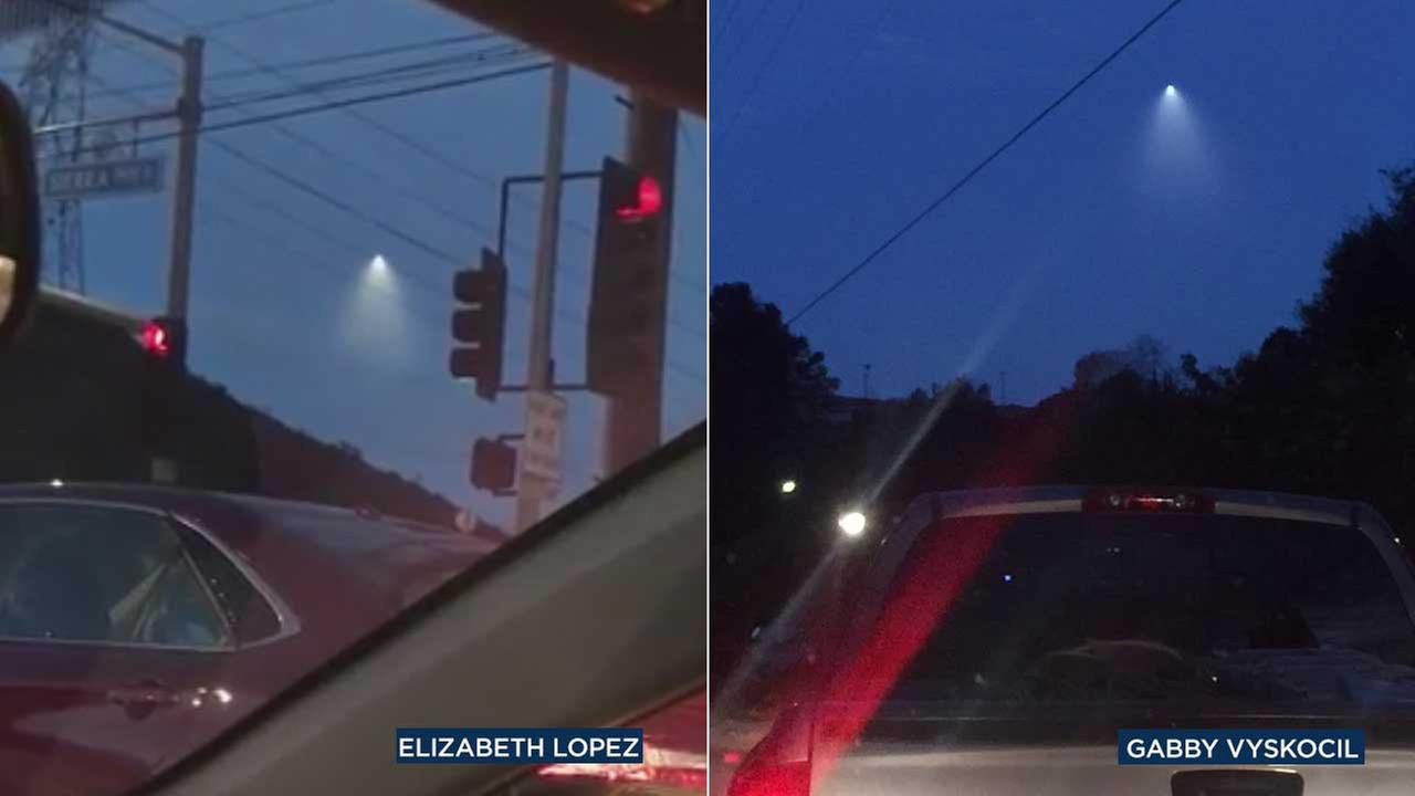 Eyewitness News viewers submitted photos of a mystery light in the sky on Tuesday, Feb. 14, 2017.