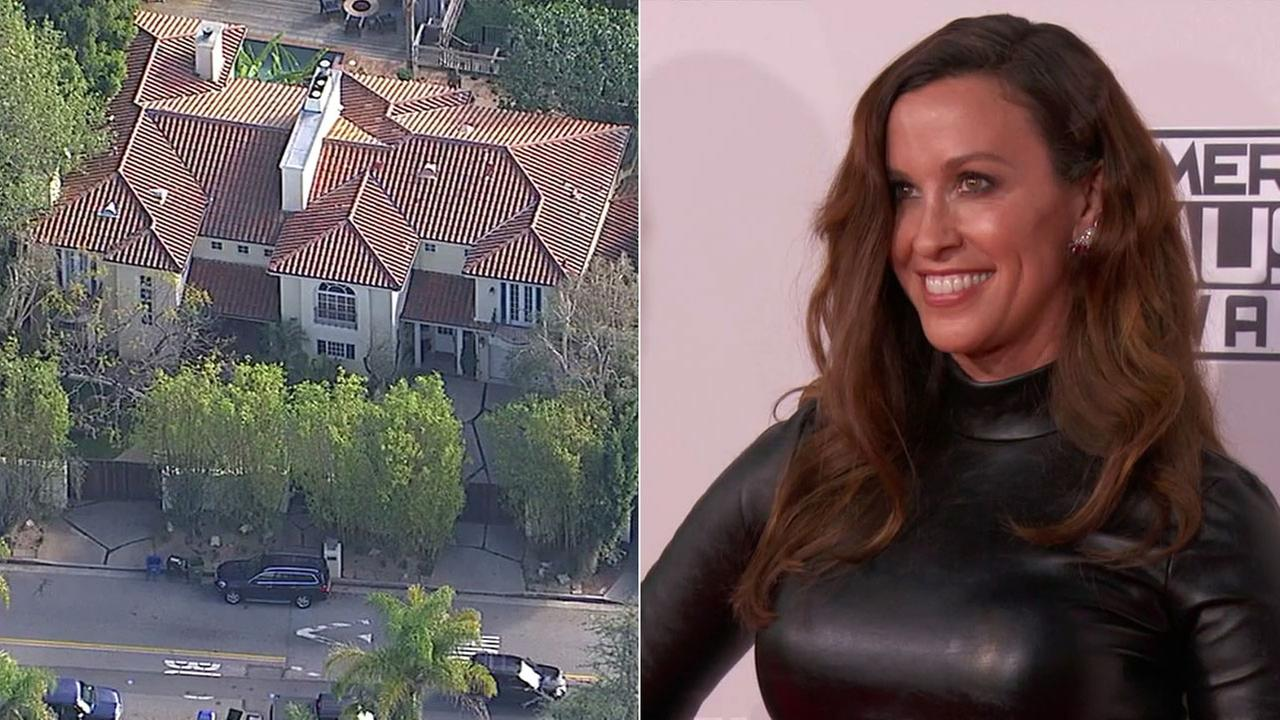 About $2 million worth of jewelry was stolen from the Brentwood home of singer Alanis Morrisette.
