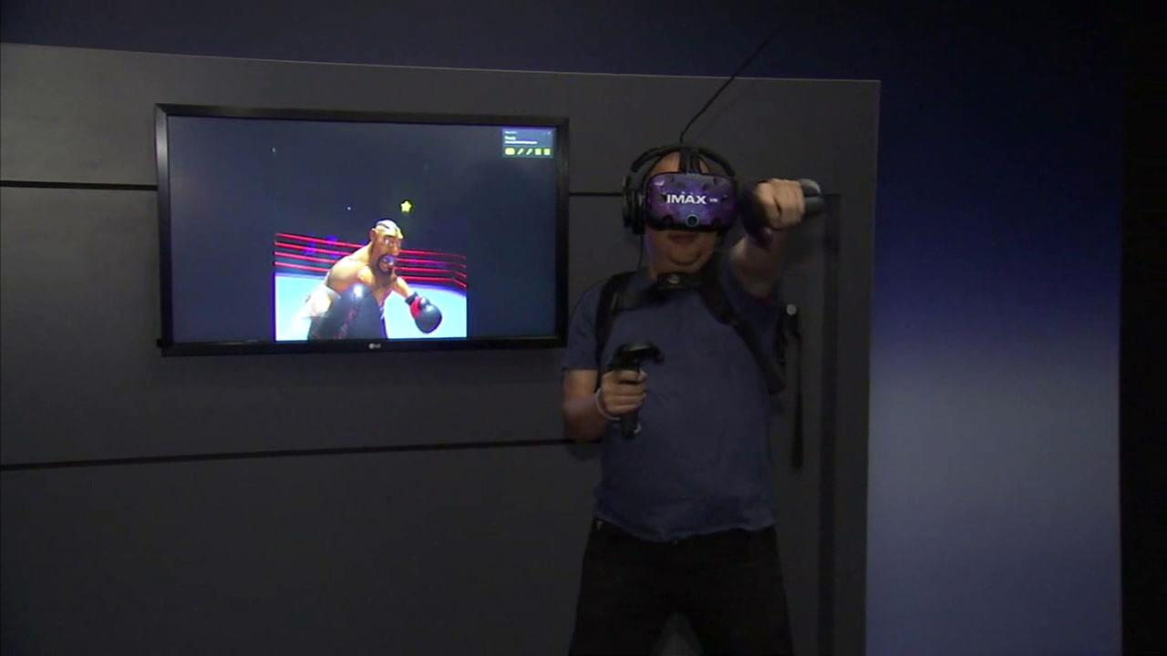 The new IMAX virtual reality center in Los Angeles offers immersive experiences such as boxing.