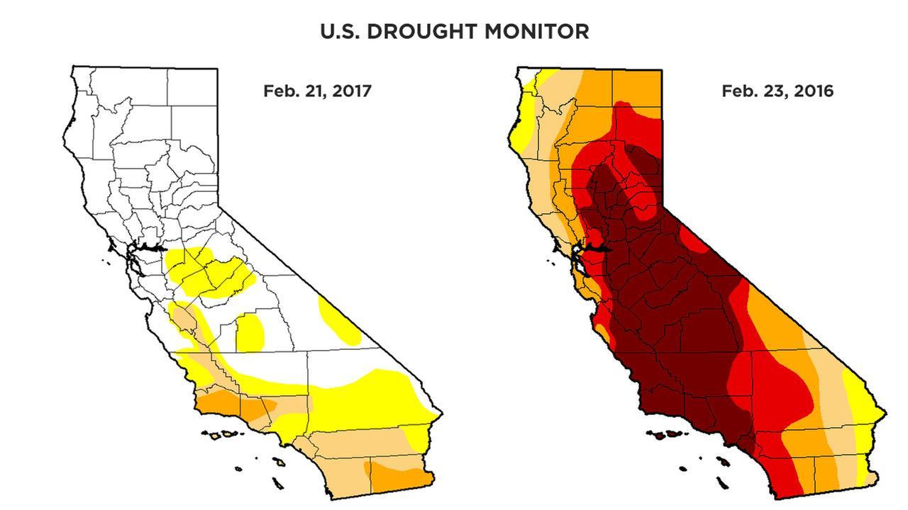 Rainy season helps get California out of extreme drought category ...