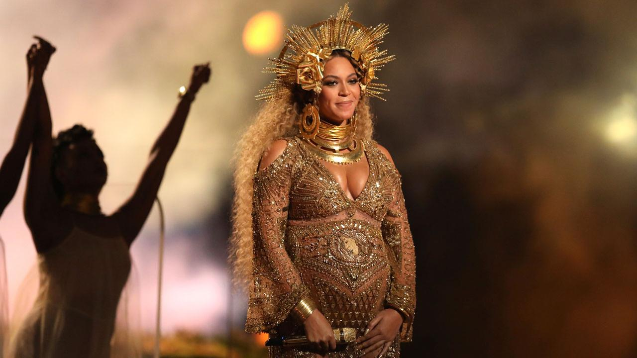 This Feb. 12, 2017 file photo shows Beyonce performing at the 59th annual Grammy Awards in Los Angeles.