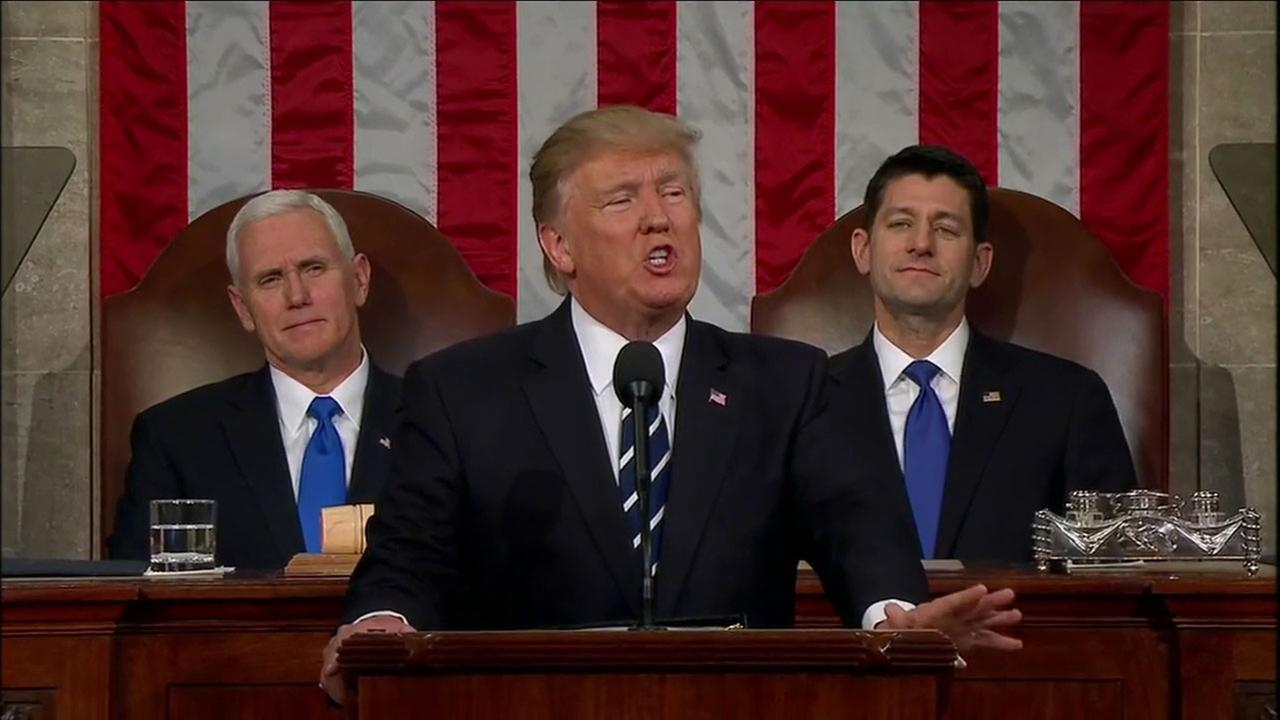 President Trump addresses a joint session of Congress on Tuesday, Feb. 28, 2017.