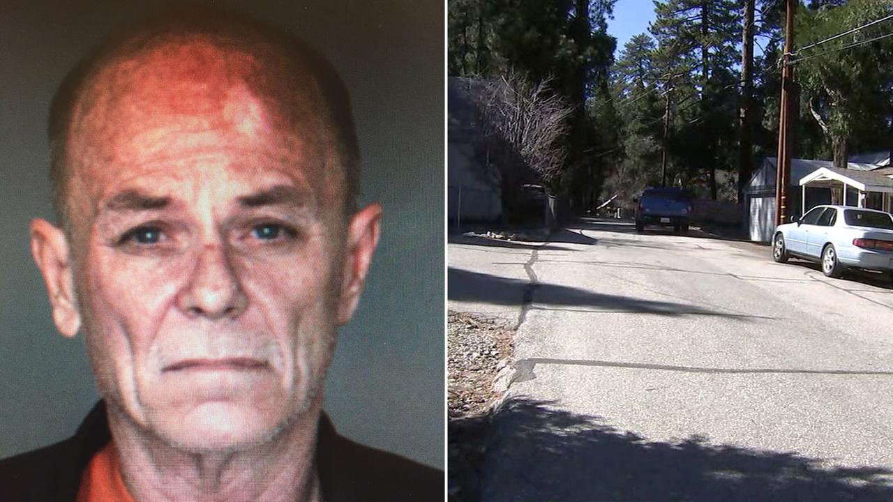 Authorities said 56-year-old Monte Shultz, of Crestline, was arrested and booked for torture.
