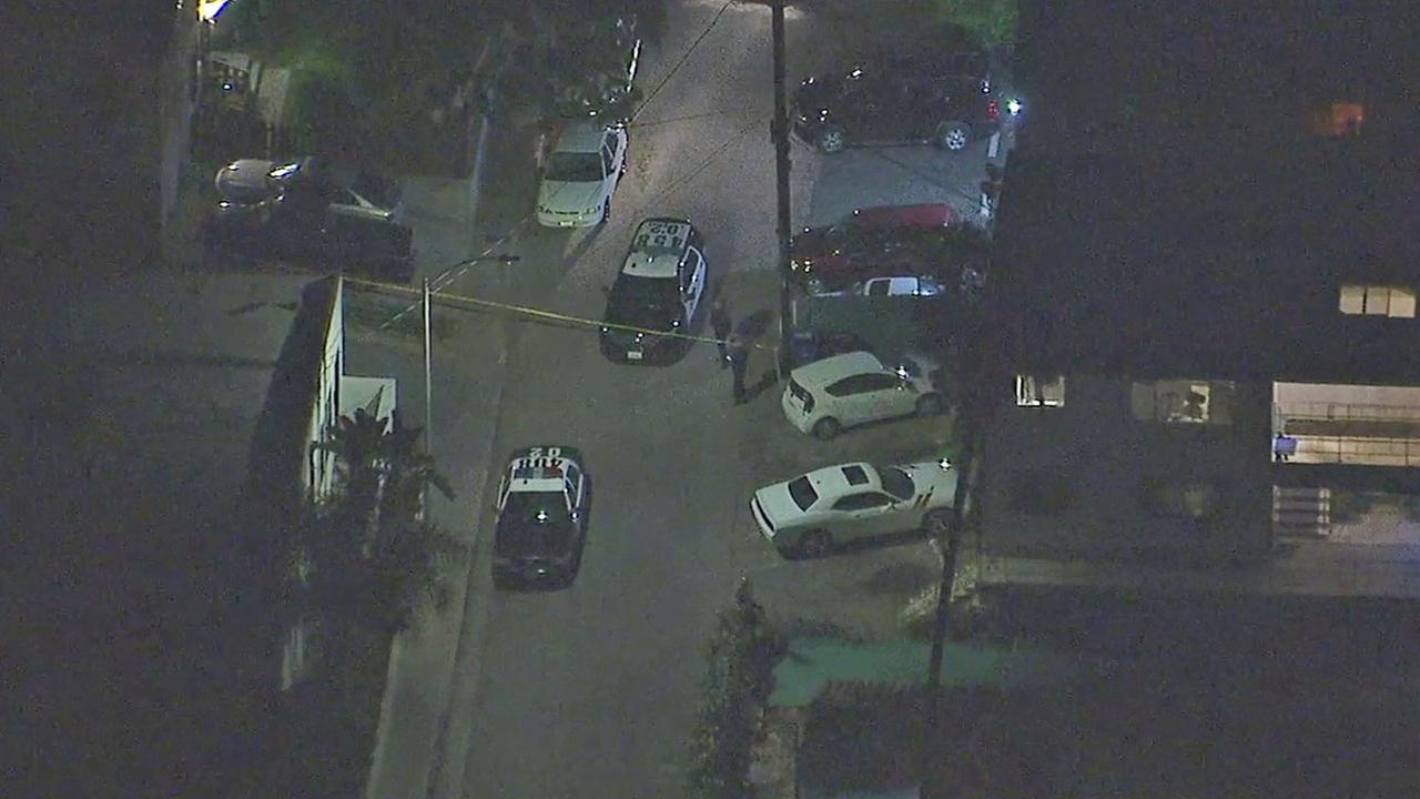 Authorities cordoned off an area in Silver Lake after an officer-involved shooting broke out that left a female suspect wounded on Monday, March 5, 2017.