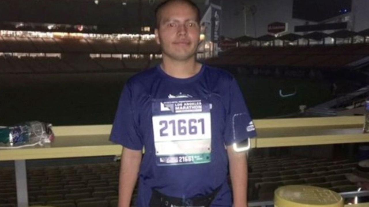 Romario Snow, 21, is shown in a photo taken at Dodger Stadium before the L.A. Marathon on Sunday, March 19, 2017.