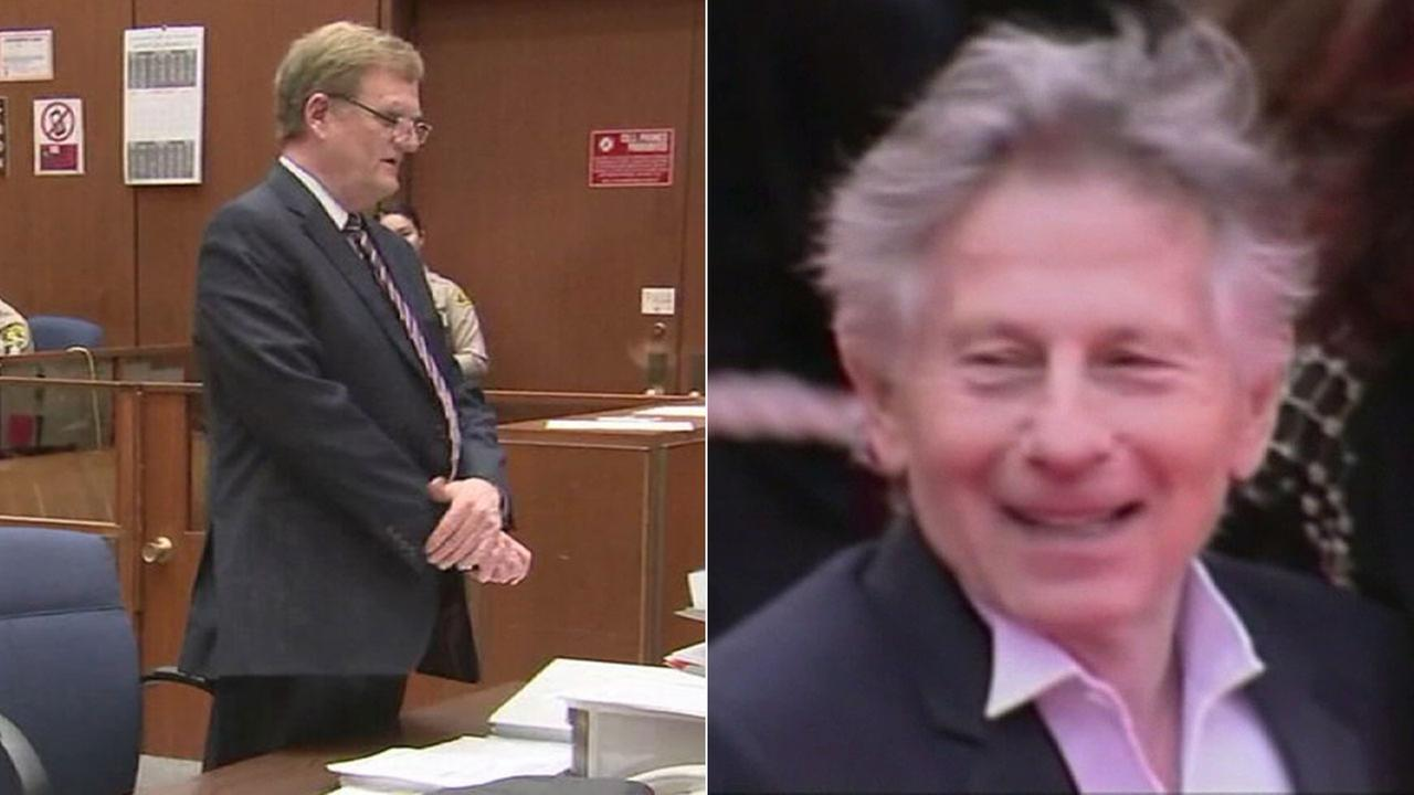 Attorney Harland Braun (left) is discussing the possibility of  his client, director Roman Polanski (right) returning to the United States to resolve a 40-year-old rape case.