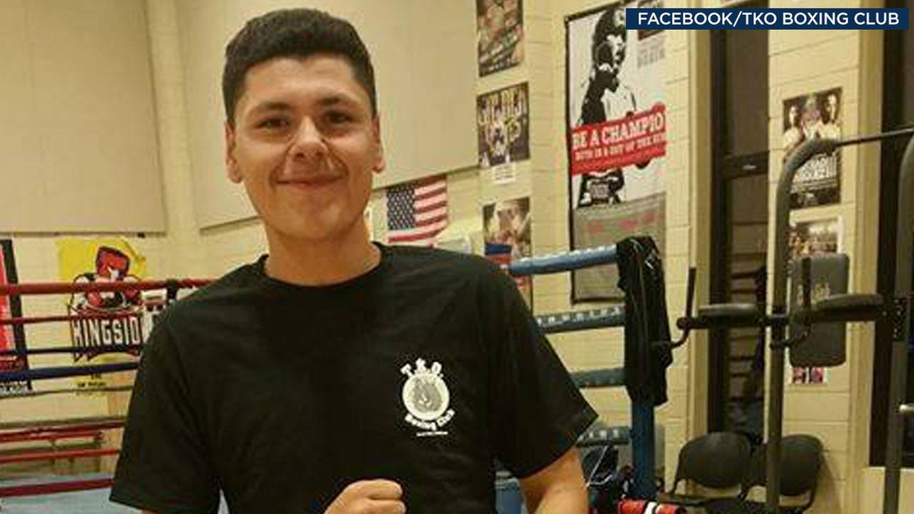 Isaac Gonzalez, 15, is shown in a photo posted on Facebook by TKO Boxing Club and a GoFundMe page.