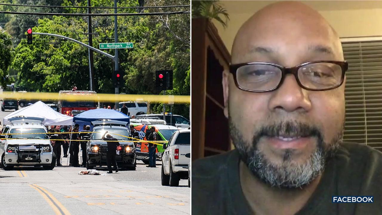 53-year-old Cedric Anderson (right), the suspect in a murder-suicide that killed a teacher and student at a school in San Bernardino, had an arrest history, police said.