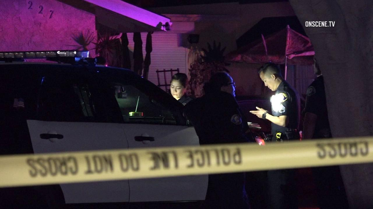 The scene of a deadly officer-involved shooting in Newport Beach on Saturday, April 15, 2017.