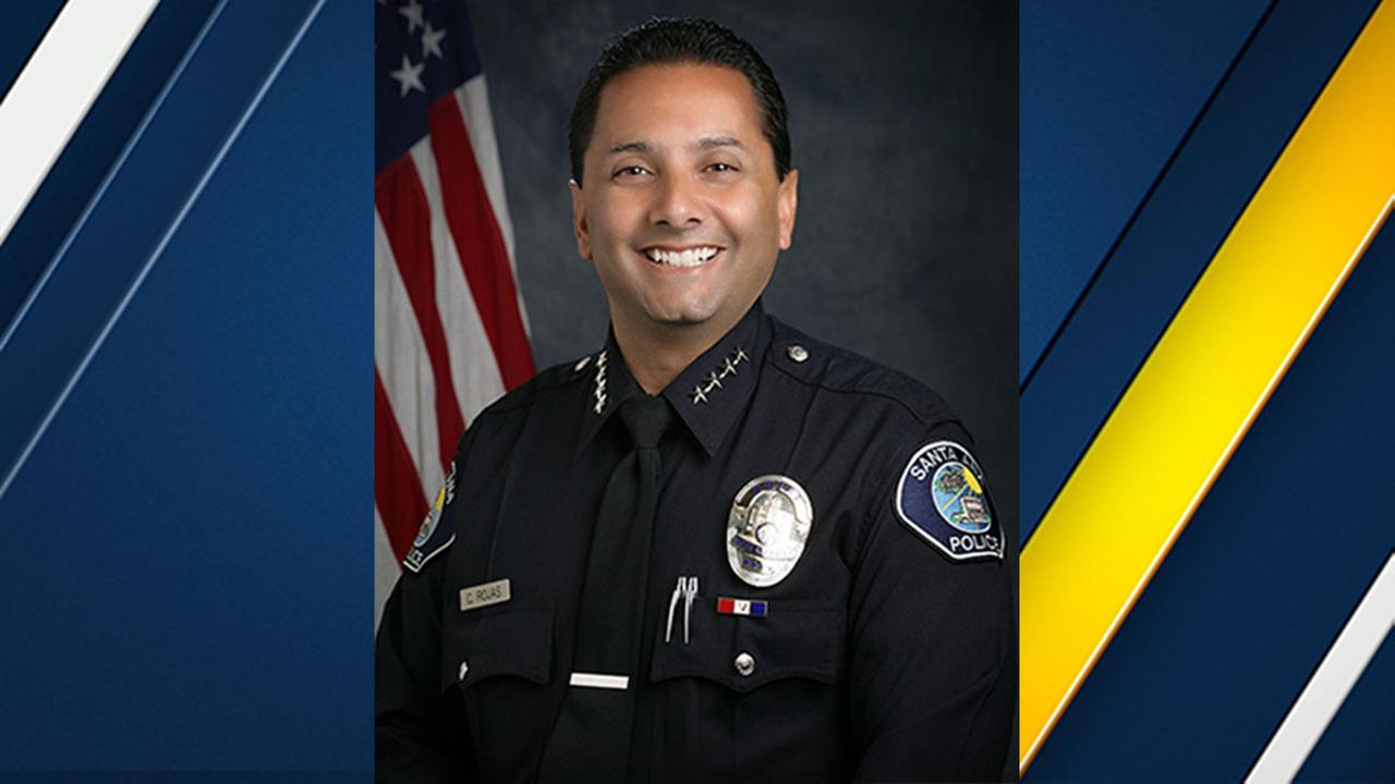Sana Ana Police Chief Carlos Rojas is resigning as of June 9 to take a position with another agency.