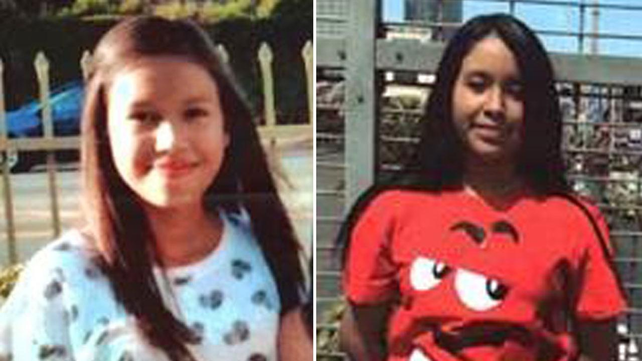 Caterin Michelle Lopez, 13, is shown in an undated photo on the left alongside an image of Candy Flores, 13.