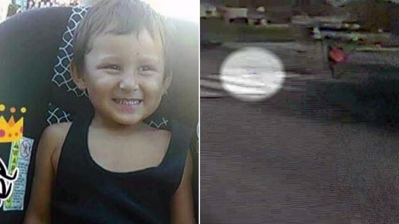 Surveillance video captured the moment authorities said a drunk driver hit and killed 3-year-old boy Michael Flores Jr. in San Bernardino on Thursday, April 28, 2017.