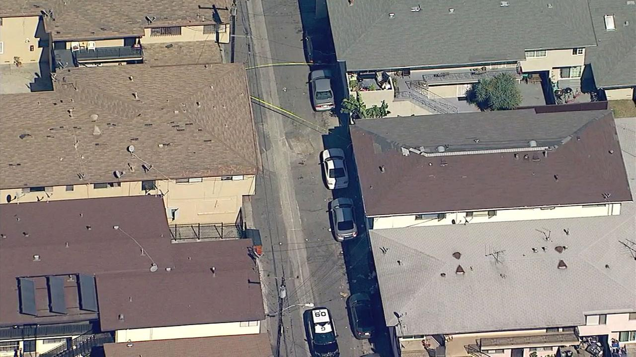 A mans body was found in the 2700 block of 141st Place in Gardena Wednesday morning just blocks from where a triple shooting occurred the night before, police said.