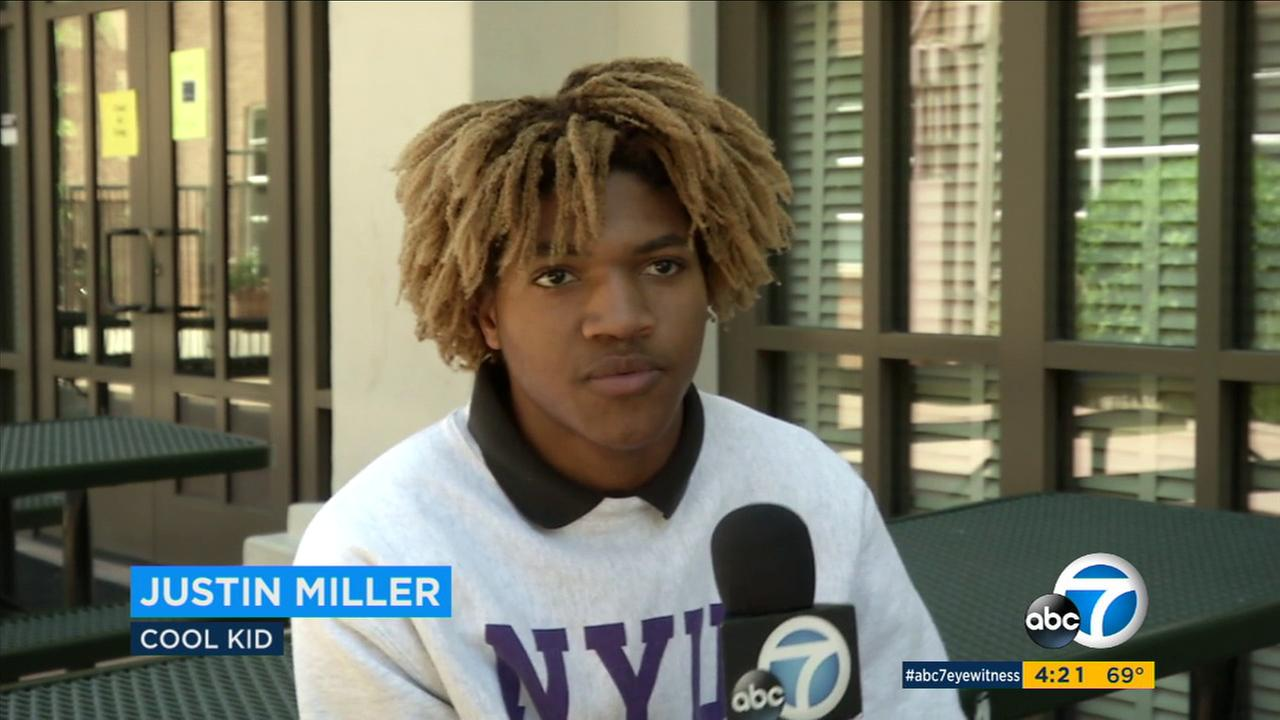 Our ABC7 Cool Kid for Thursday, May 4, is 17-year-old Justin Miller, who is raising awareness after watching a documentary about sexual assault on college campuses.