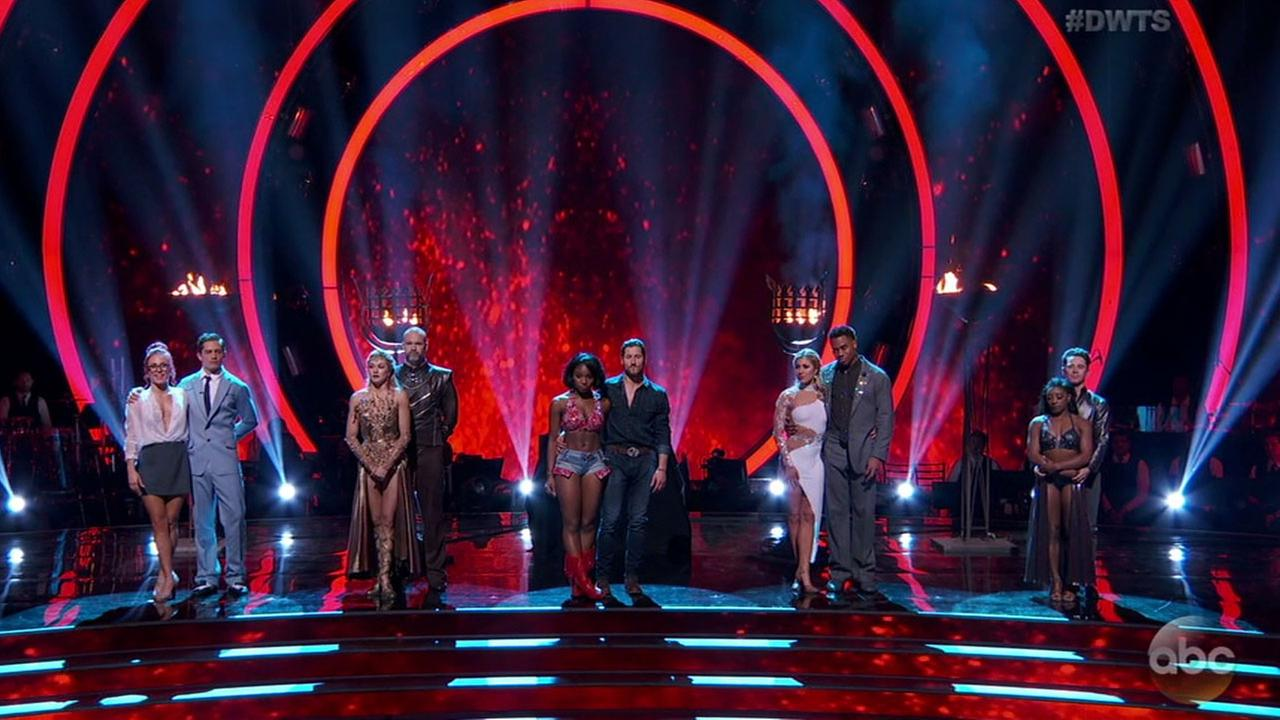 One of the five remaining couples was eliminated in week 8 as Dancing with the Stars prepares to head into the semifinals.