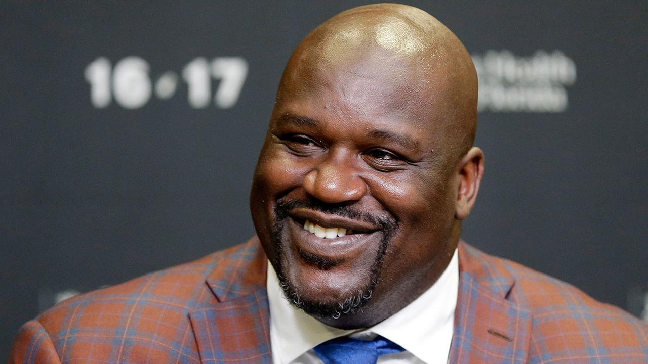 Retired Hall of Famer and Laker star Shaquille ONeal pictured at a Miami news conference on Dec. 22, 2016.