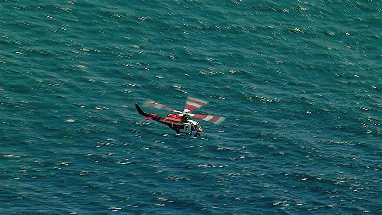 U.S. Coast Guard officials are responding to reports of a possible downed aircraft near the Redondo Beach Harbor on Saturday, May 13, 2017.